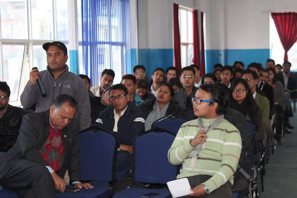 Audience Q&A at Nepal Education forum