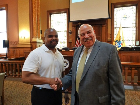 Councilman Jermaine Robinson and Alan Inman
