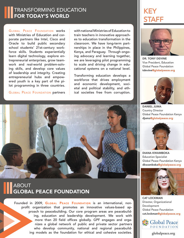 Global Peace Foundation - Education Brochure - Thumbnail Image
