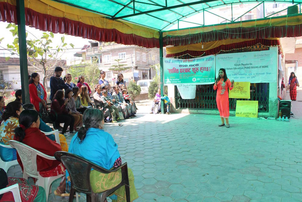 GPW Forum Theater performs in Nepal
