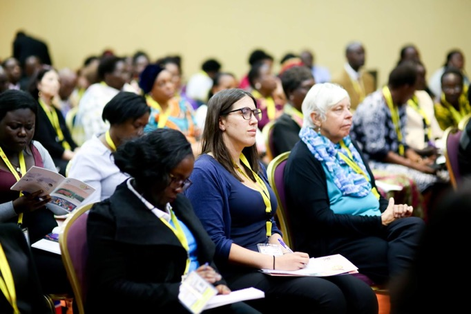 Audience looks on at the Peace Begins in the Home session of the 2018 GPLC