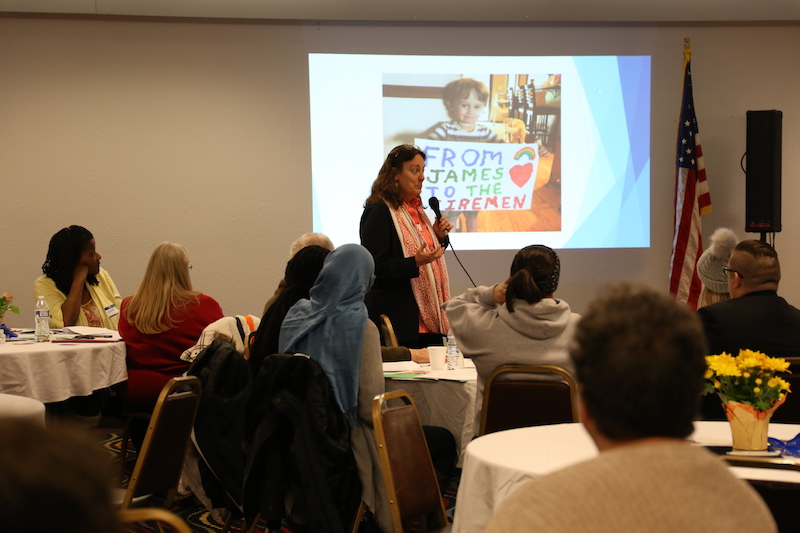 Gail Hambleton leads interactive workshop at the Global Peace Forum in Montana
