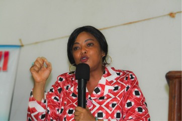 Sophia Mjema address university students at Women and Leadership forum