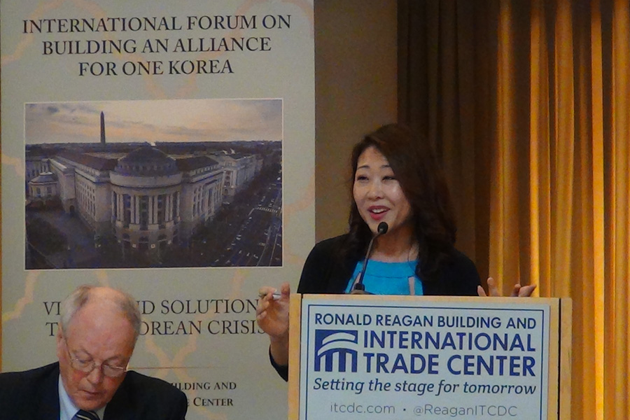 Hyepin Im speaks at the One Korea forum in DC