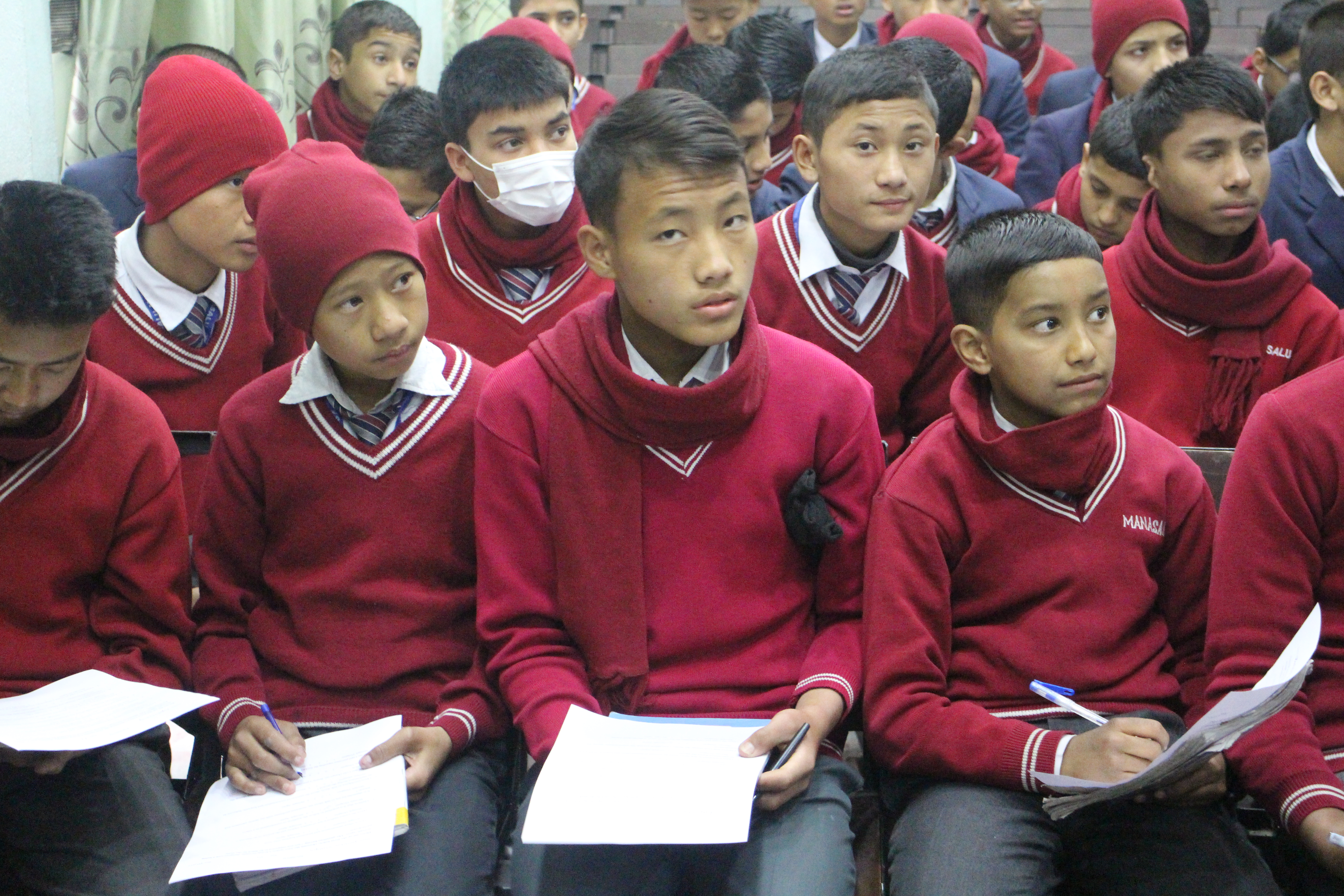 Boys attend women's health and leadership workshop