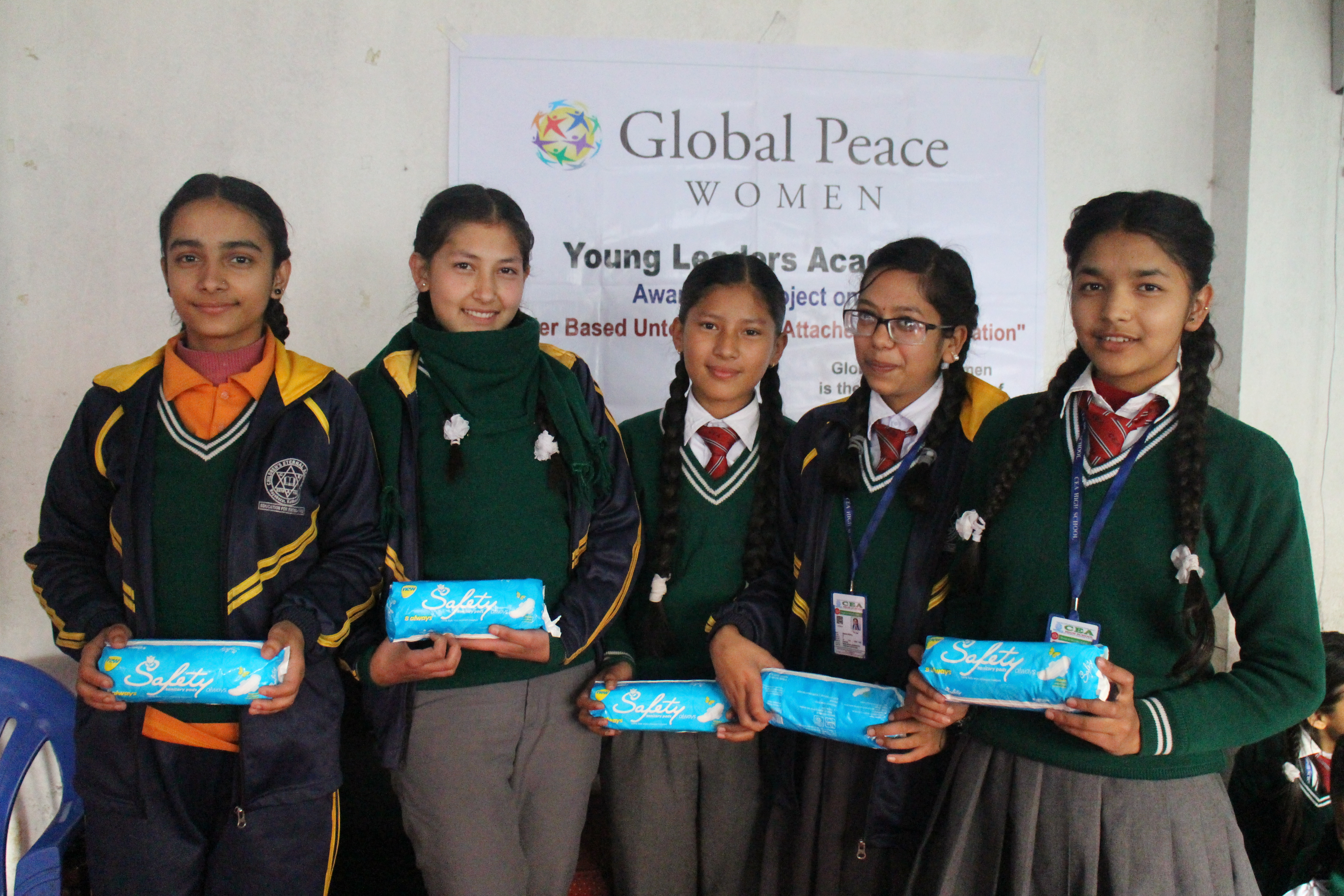 Girls attend leadership and women's health workshop in Nepal