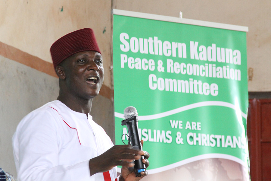 Joseph Hayab at the Southern Kaduna Peace and Reconciliation meeting