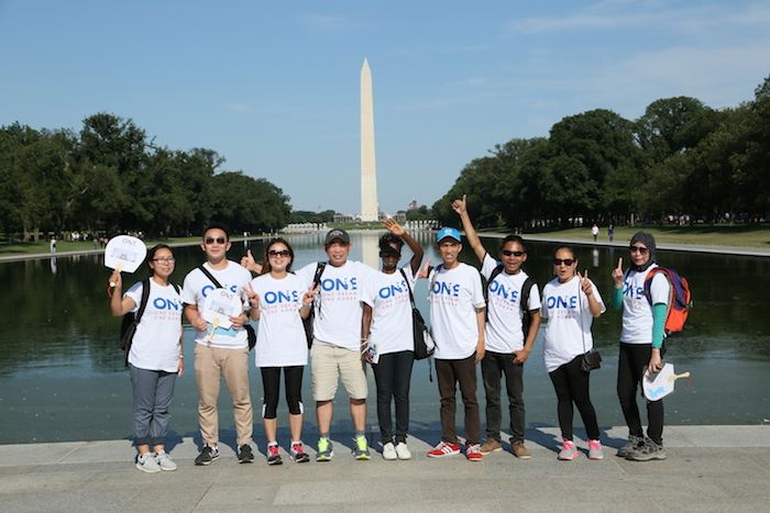 IYLA at 1Dream1Korea concert in front of Washington monument
