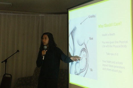 Jinmee Graham presents at holistic health workshop
