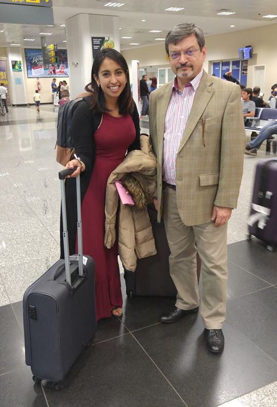 Lani Araya with GPF Brazil Director Massimo Trombin