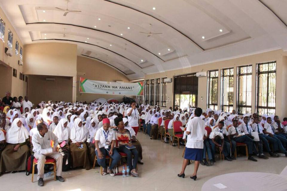 Audience at the Women's Leadership conference in Tanzania
