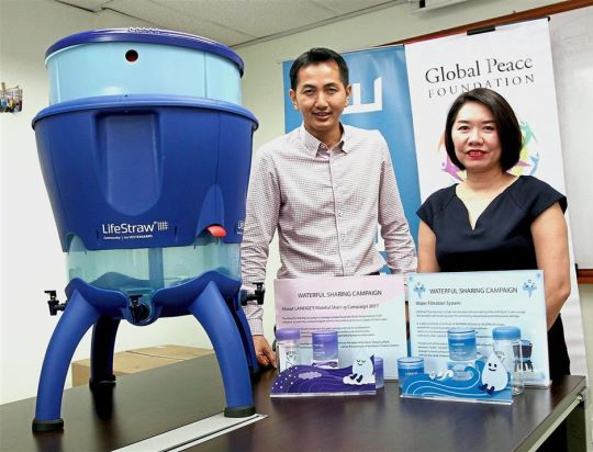 Waterful Sharing organizers with lifestraw filter