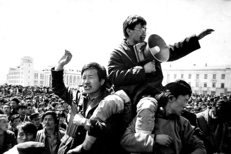 Mongolia students lead protest in 1989 and 1990