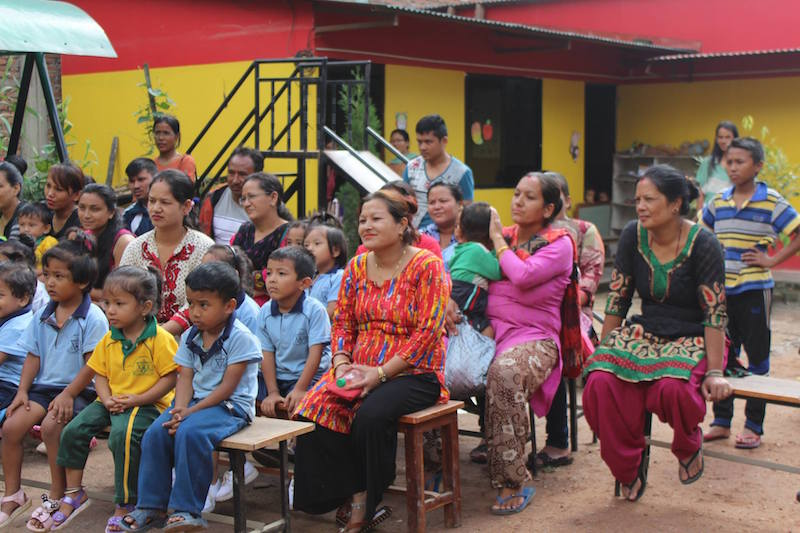 Audience watches Nepal students perform