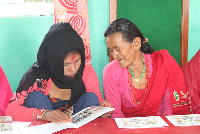 Local Nepali women learn about Global Peace Women