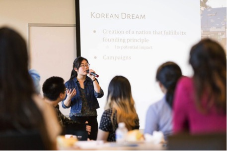 Ohnshim presents on the Korean Dream