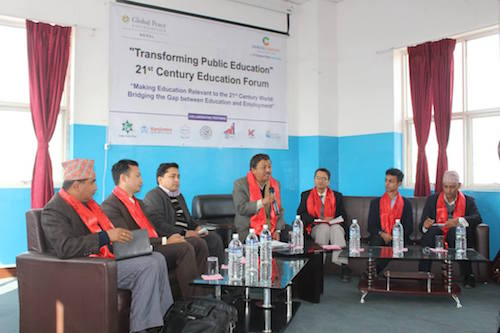 Panel at Nepal Education forum