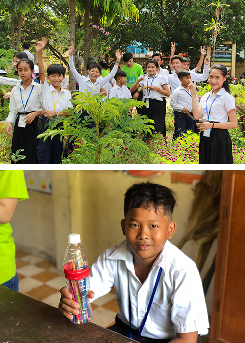 Students in Cambodia participate in GreenEd projects