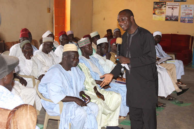 Rev. Hayab speaks to leaders at the Kaduna workshop
