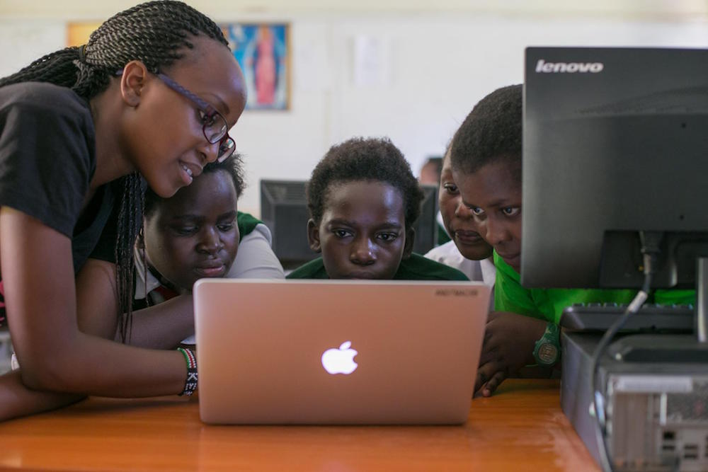 Teencode students learn new technology skills with Global Peace Education Kenya