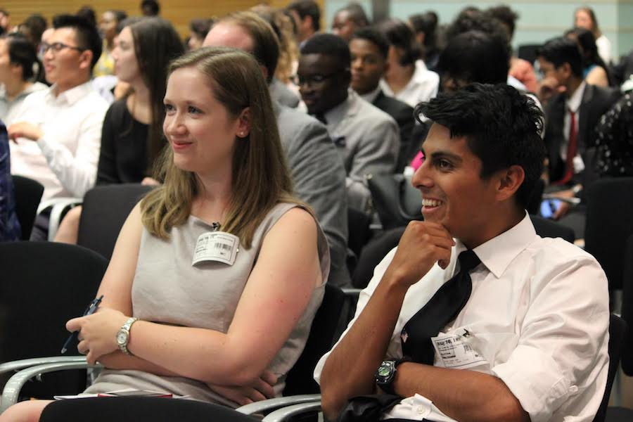 IYLA delegates in the audience at the International Youth Day at the World Bank