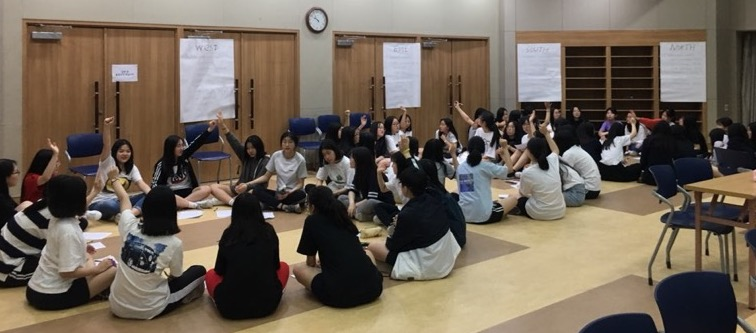 Youngduk students during women's empowerment workshop