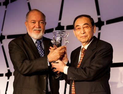 Sir James Mancham and Dr. Tae-Hwan Kwak