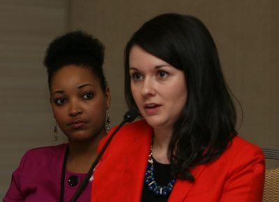 Rebecca Posey, Regional Director of Not for Sale, during a meeting at the GPC 2012 Atlanta.
