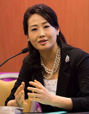 Mrs. Jun Sook Moon, International Chairwoman of Global Peace Women and Wife of Dr. Hyun Jin Moon