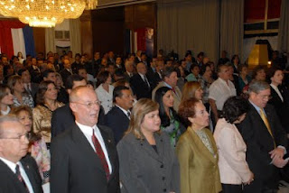 Leaders of modern Paraguay at the bicentenial event.