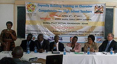 GPF Kenya hosts Character Competency Training for High School Principals and Teachers.