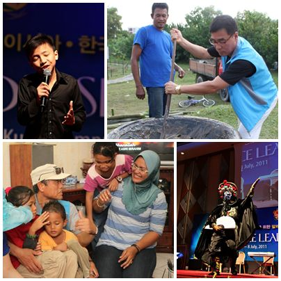 Entertainment, community service, and home visits were included in the Global Peace Leadership Exchange program.