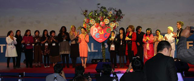 """Global Peace Foundation launches Global Peace Women to advance the """"dream of peace"""" at the Global Peace Convention 2011 in Seoul, Korea."""
