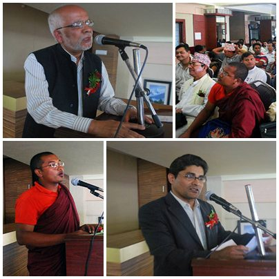 Religious leaders assemble to address Nepal Constitution issue.