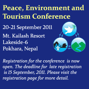 First Peace, Environment and Tourism Conference in Nepal 2011.