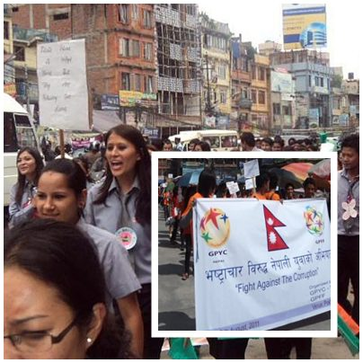 Students staged a peaceful march, and the rally was reported by local media.