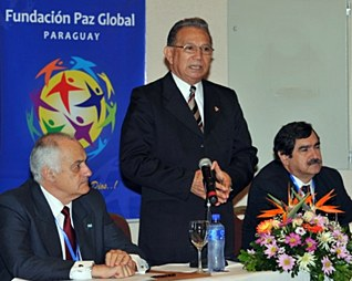 """Jose Altamirano speaking at a workshop called, """"Democracy, Inequality and Citizens' Security"""" in Asuncion."""