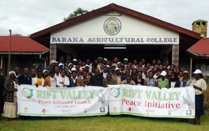 GPF and Coalition Partners advance peacebuilding by addressing ethnical violence and promotion of peace at a workshop for 95 young leaders, in Kenya's Rift Valley.
