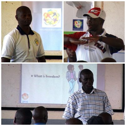Top left: Peter Kin'gori, GPF Kenya program coordinator; top right: Mr. Popin Misoi, a rep. of Kenya Youth Empowerment; bottom: Arthur Wesonga, Director of Programmes, GPYC.