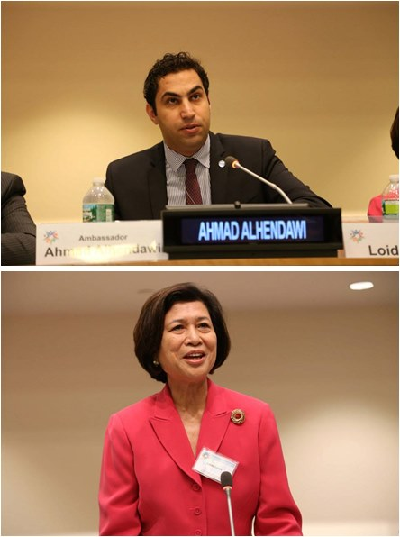 Mr. Ahmad Alhendawi, the UN Secretary-General Envoy on Youth; and Ms. Loida Lewis, former Chair and CEO of TLC Beatrice International