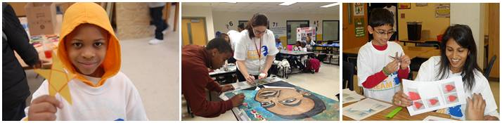 At Martin Luther King Middle School created their own projects for MLK Service Day.