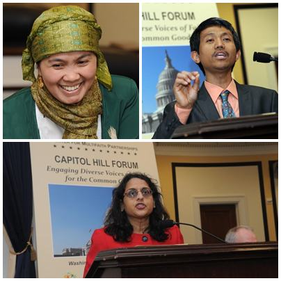 Top left: Etin Anwar; Top right: Dr. Shalahudin Kafrawi, and below: Ms. Anju Bhargharva