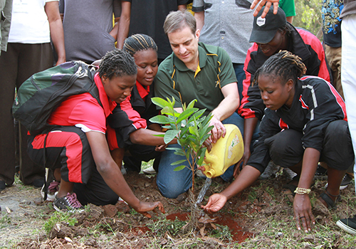 Planting trees on Mandela Day