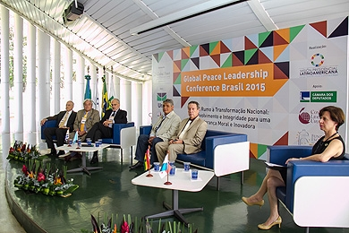 Global Peace Leadership Conference 2015 forum - former Latin American presidents
