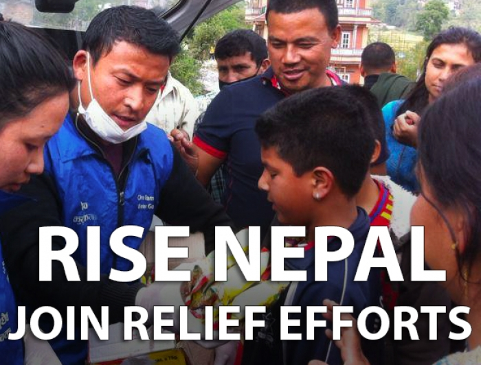 Global Peace Foundation and Asia Pacific Peace and Development Service Alliance coordinating volunteers efforts on the ground in aftermath of Nepal earthquake in 2015