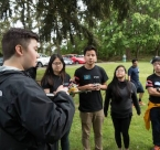 Kensu Bates trains team leaders for Earth Day project