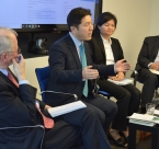 Action for Korea United representative, Intek Seo speaks at the Alliance for Peacebuilding forum