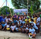 Global Peace Foundation Volunteers and locals at All Lights Village launch.