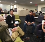 NYU students discussion with Michael Marshall
