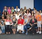 Group photo of Global Peace Foundation Women Paraguay forum on Public Policy